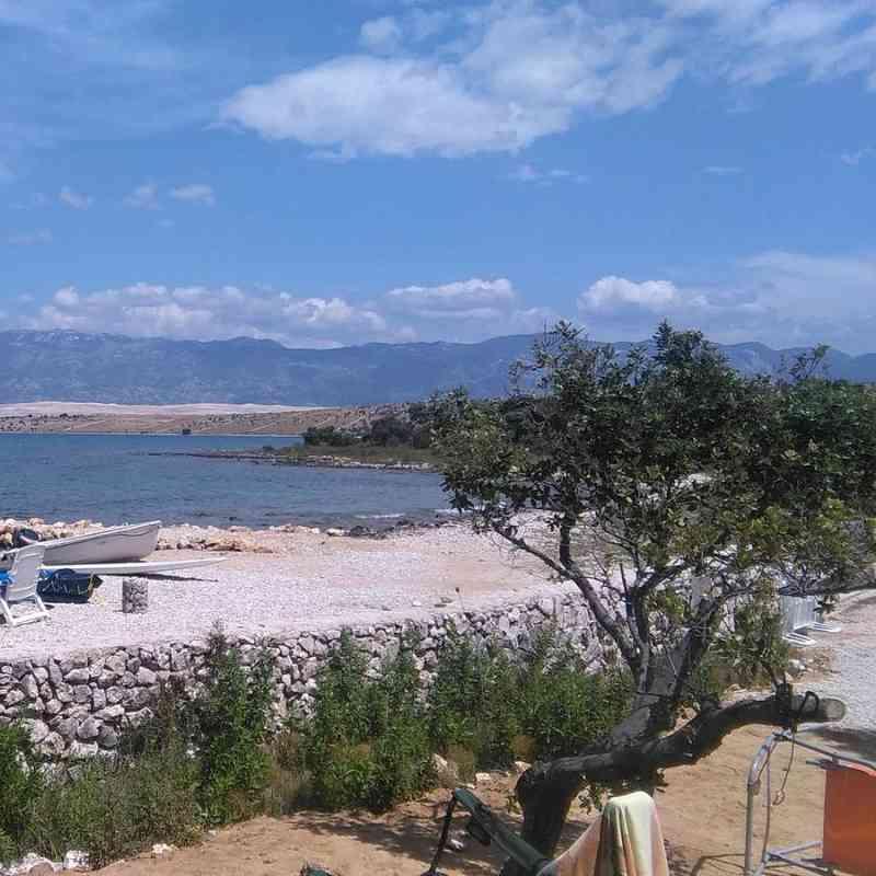 Kemp na ostrově Pag